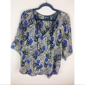 Yumi Kim silk top large blouse